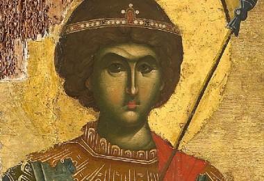 Άγιος Γεώργιος (λεπτομέρεια Ι.Μ.Μ.Βατοπαιδίου)