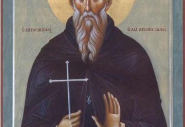 Άγιος Σάββας ο Βατοπαιδινός ο δια Χριστόν σαλός